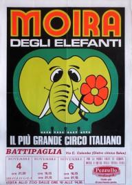 Circo Moira Orfei Circus poster - Italy, 1986