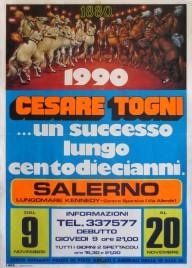Circo Cesare Togni Circus poster - Italy, 1989