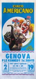 Circo Americano Circus poster - Italy, 1989