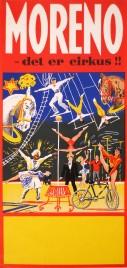 Cirkus Moreno Circus poster - Denmark, 1962