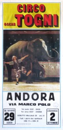 Circo Oscar Togni Circus poster - Italy, 1990