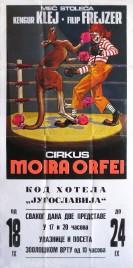 Cirkus Moira Orfei Circus poster - Italy, 1977