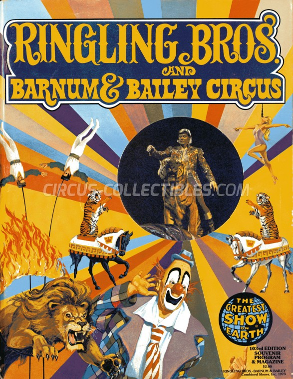 Ringling Bros. and Barnum & Bailey Circus Circus Program - USA, 1973