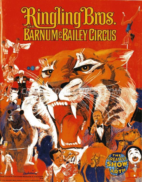 Ringling Bros. and Barnum & Bailey Circus Circus Program - USA, 1974