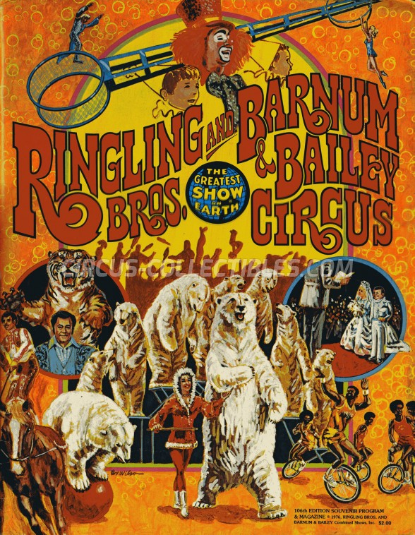 Ringling Bros. and Barnum & Bailey Circus Circus Program - USA, 1976