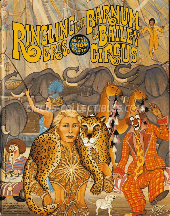 Ringling Bros. and Barnum & Bailey Circus Circus Program - USA, 1977