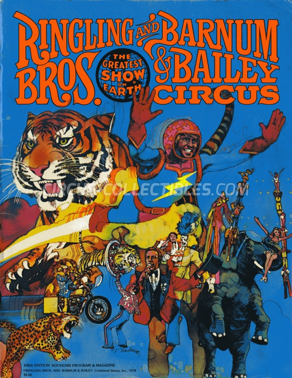 Ringling Bros. and Barnum & Bailey Circus Circus Program - USA, 1978