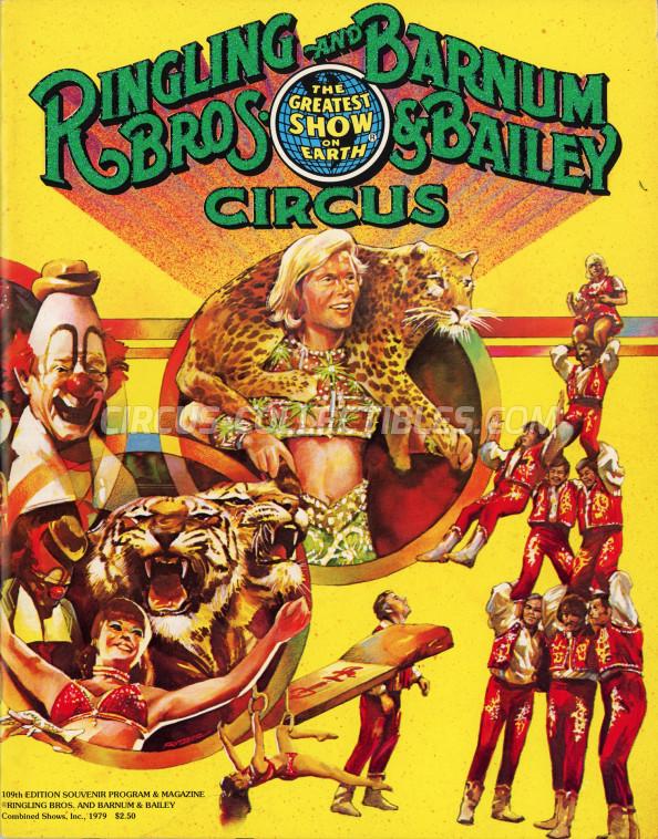 Ringling Bros. and Barnum & Bailey Circus Circus Program - USA, 1979