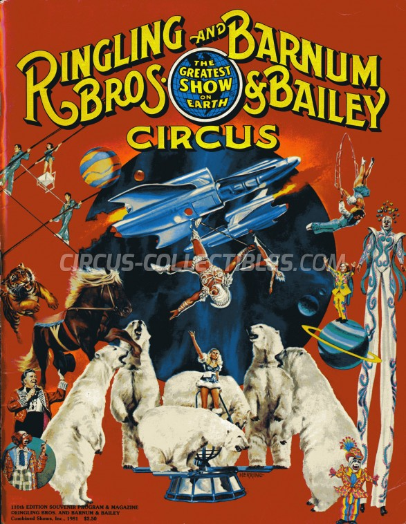 Ringling Bros. and Barnum & Bailey Circus Circus Program - USA, 1981