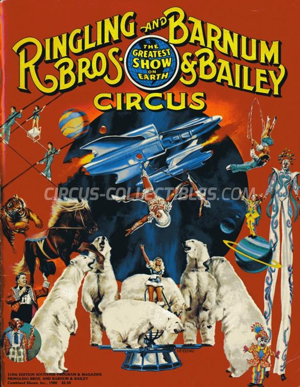 Ringling Bros. and Barnum & Bailey Circus Circus Program - USA, 1980