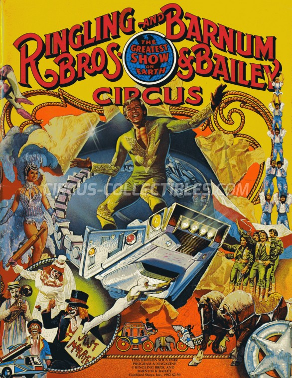 Ringling Bros. and Barnum & Bailey Circus Circus Program - USA, 1982