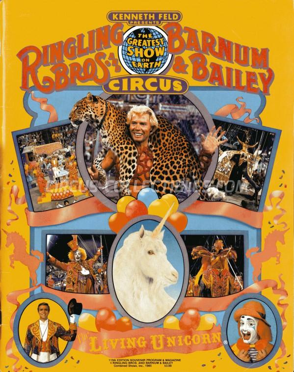 Ringling Bros. and Barnum & Bailey Circus Circus Program - USA, 1985