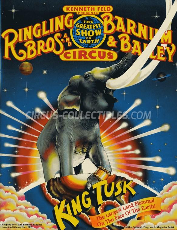Ringling Bros. and Barnum & Bailey Circus Circus Program - USA, 1987