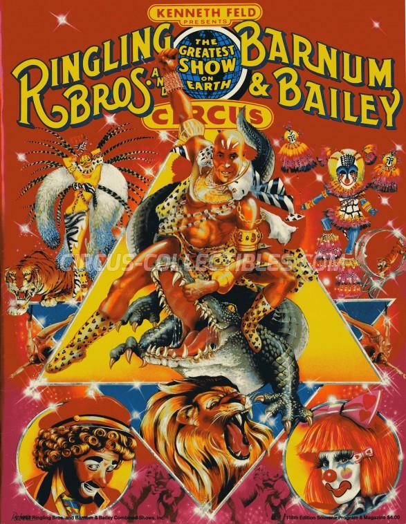 Ringling Bros. and Barnum & Bailey Circus Circus Program - USA, 1988