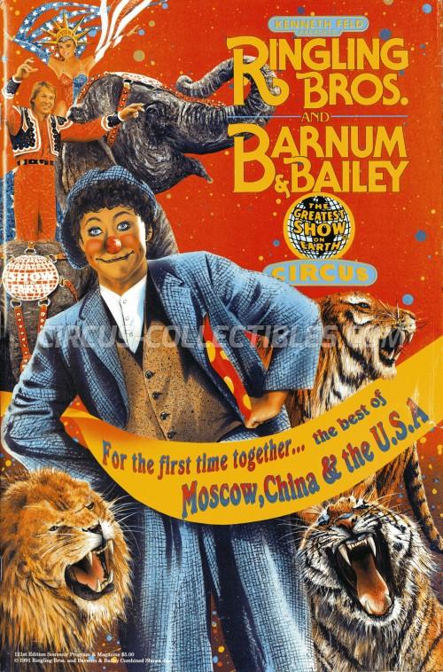 Ringling Bros. and Barnum & Bailey Circus Circus Program - USA, 1991