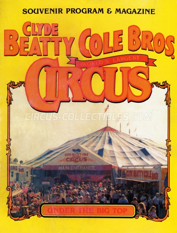Clyde Beatty Cole Bros. Circus Circus Program - USA, 0