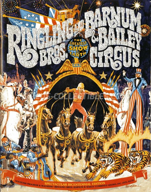 Ringling Bros. and Barnum & Bailey Circus Circus Program - USA, 1975