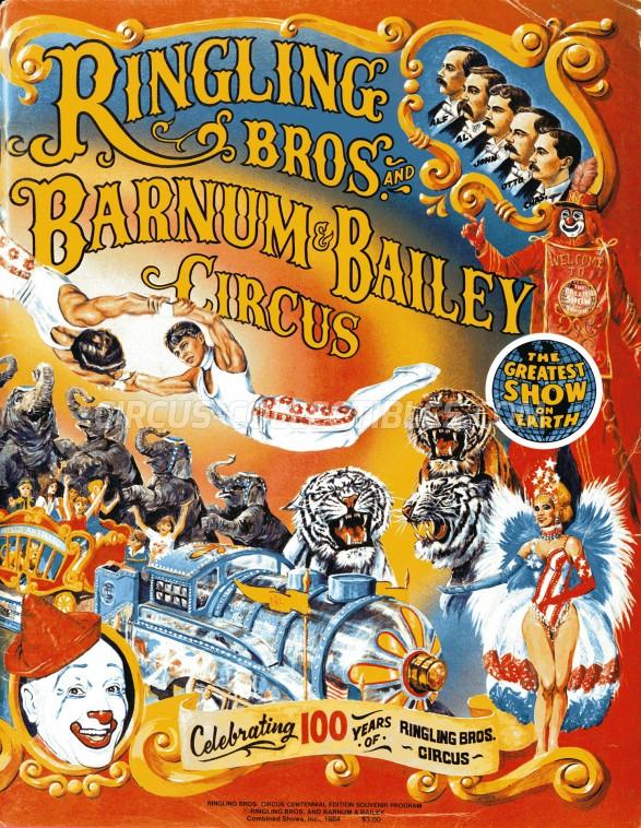 Ringling Bros. and Barnum & Bailey Circus Circus Program - USA, 1984