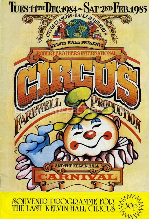 Robert Brothers International Circus Circus Program - Scotland, 1984