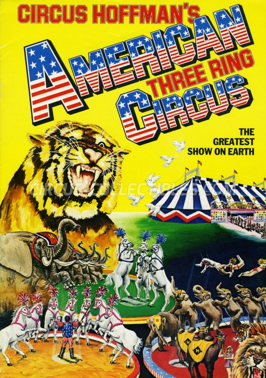 Hoffman's American Three Ring Circus Circus Program - England, 1984