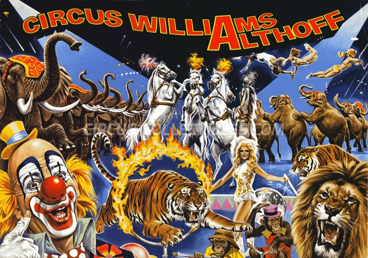 Althoff-Williams Circus Program - Germany, 1978