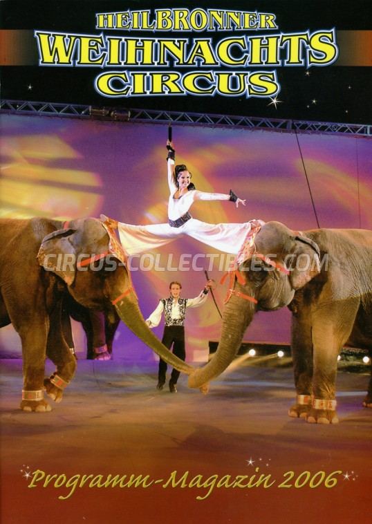 Heilbronner Weihnachts Circus Circus Program - Germany, 2006