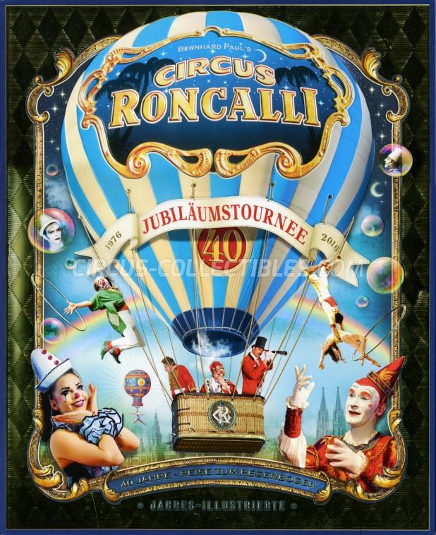 Roncalli Circus Program - Germany, 2016