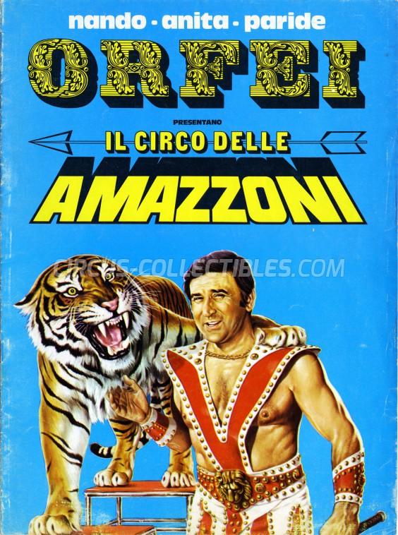 Nando, Anita, Paride Orfei Circus Program - Italy, 1977