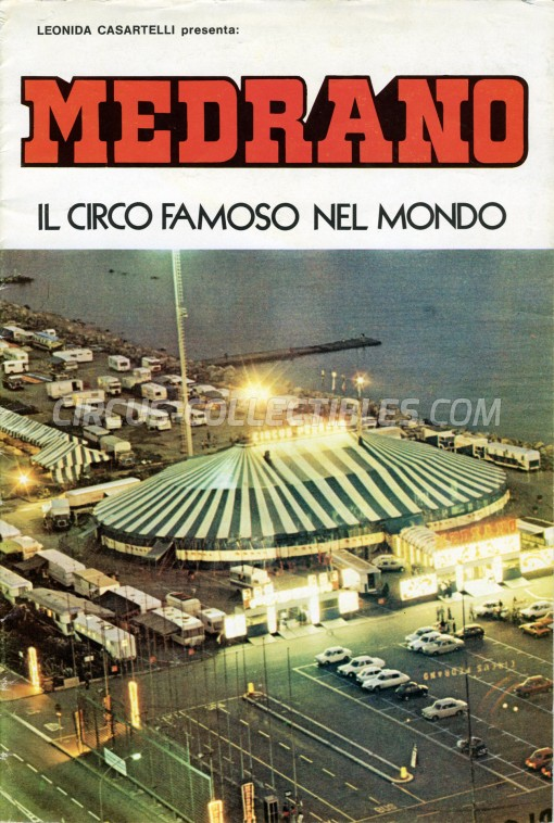 Medrano (Casartelli) Circus Program - Italy, 1975