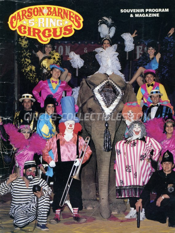 Carson & Barnes Circus Circus Program - USA, 0