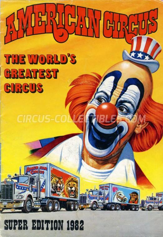 American Circus Circus Program - Italy, 1982