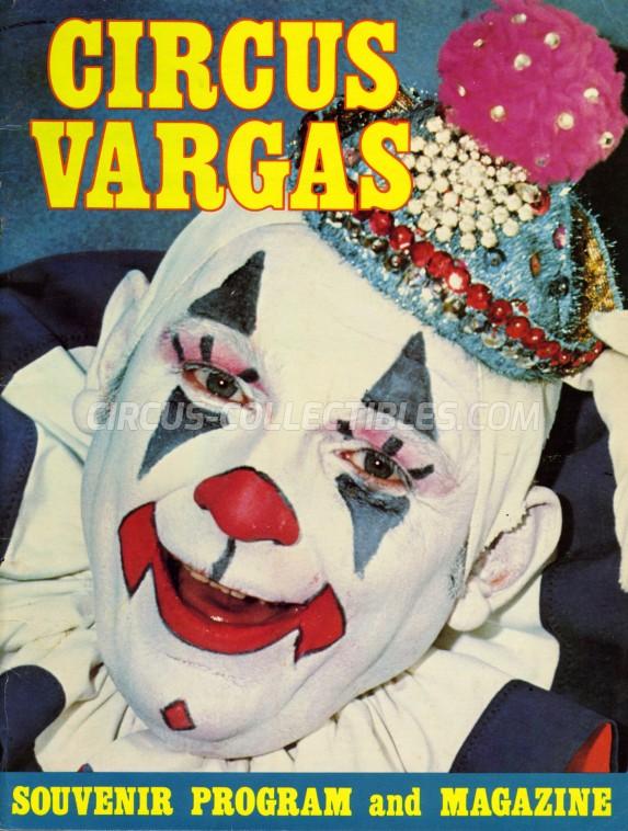 Vargas Circus Program - USA, 1979