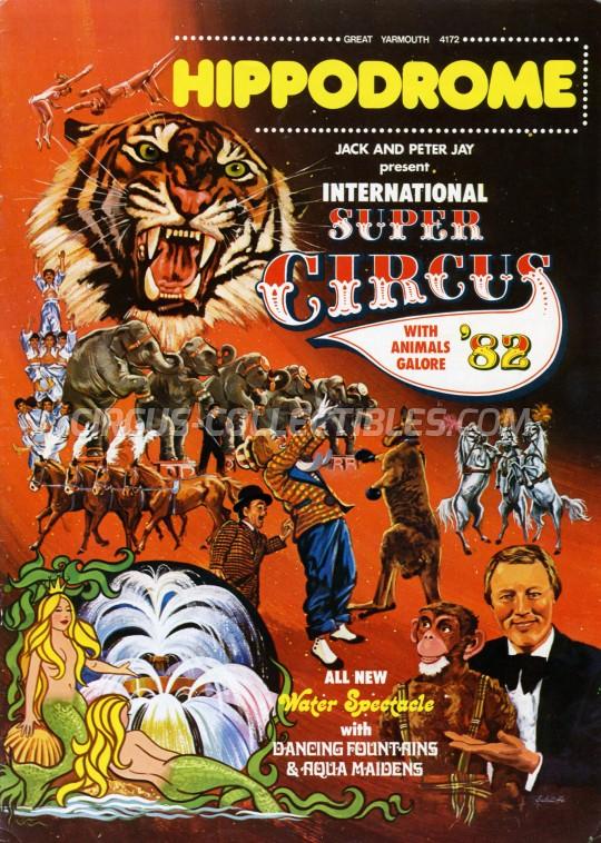 Great Yarmouth Hippodrome Circus Circus Program - England, 1982
