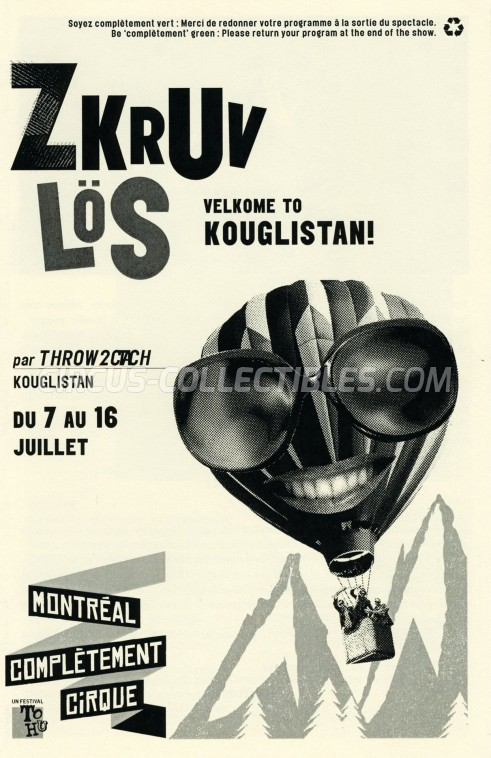 Zkruv Lös Circus Program - Canada, 2017