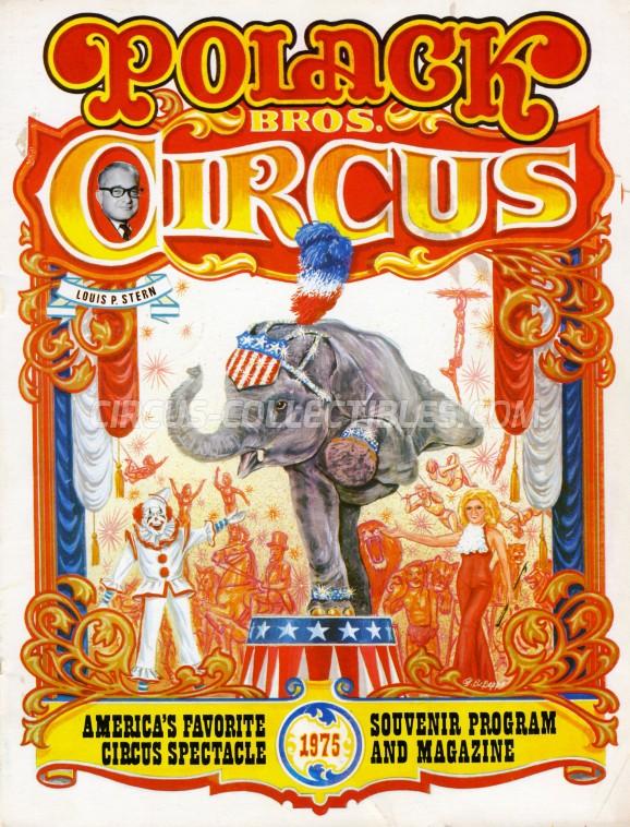 Polack Bros. Circus Circus Program - USA, 1975