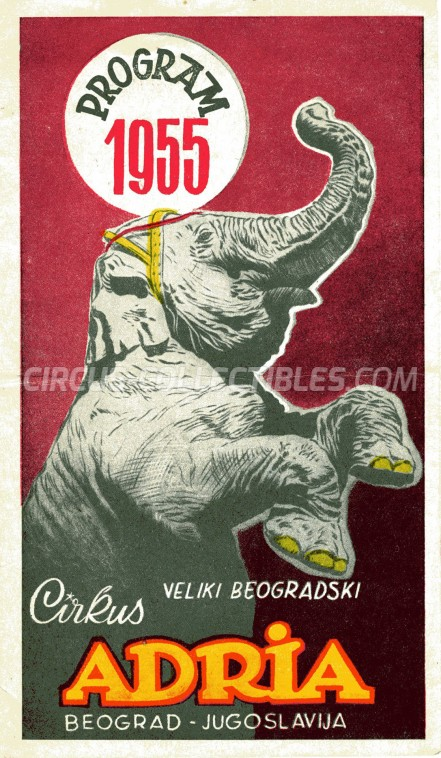 Adria Circus Program - Serbia, 1955