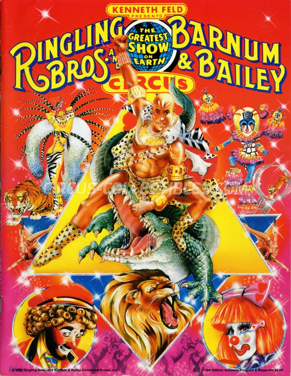 Ringling Bros. and Barnum & Bailey Circus Circus Program - USA, 1989