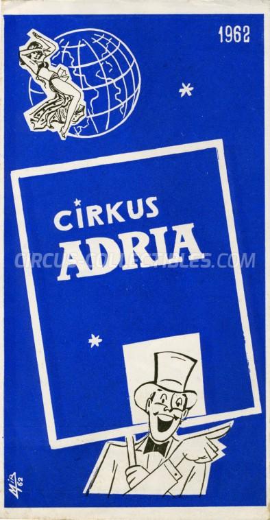 Adria Circus Program - Serbia, 1962