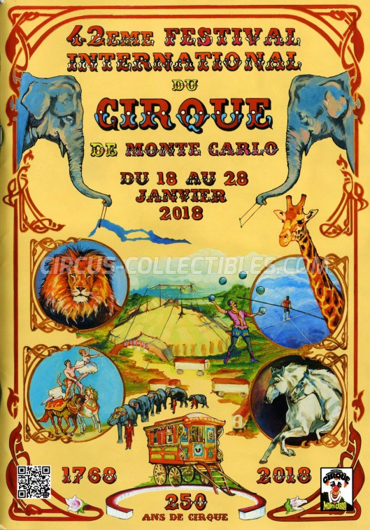 Festival International du Cirque de Monte-Carlo Circus Program - Monaco, 2018