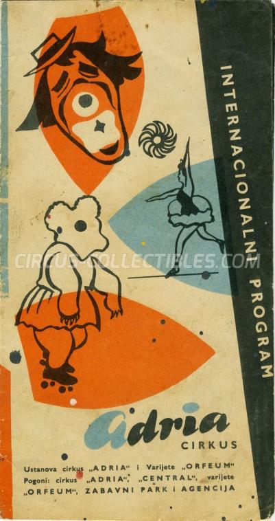 Adria Circus Program - Serbia, 1964