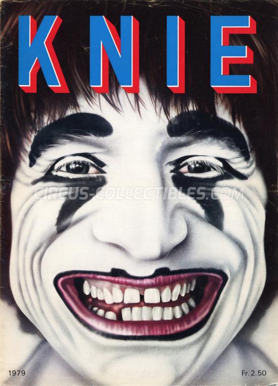 Knie Circus Program - Switzerland, 1979