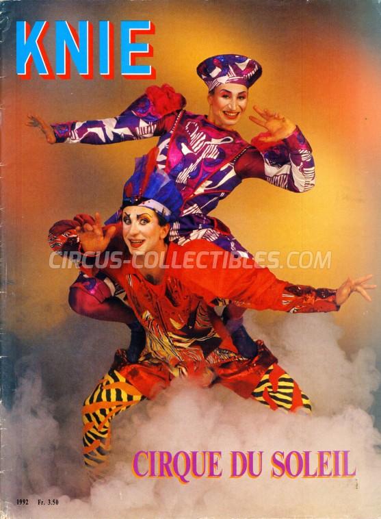 Knie Circus Program - Switzerland, 1992