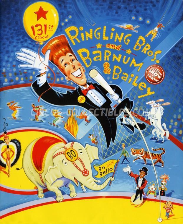 Ringling Bros. and Barnum & Bailey Circus Circus Program - USA, 2001