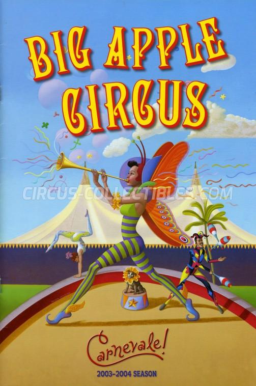Big Apple Circus Circus Program - USA, 2003