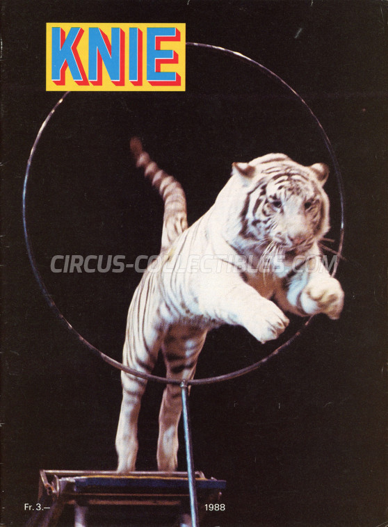 Knie Circus Program - Switzerland, 1988