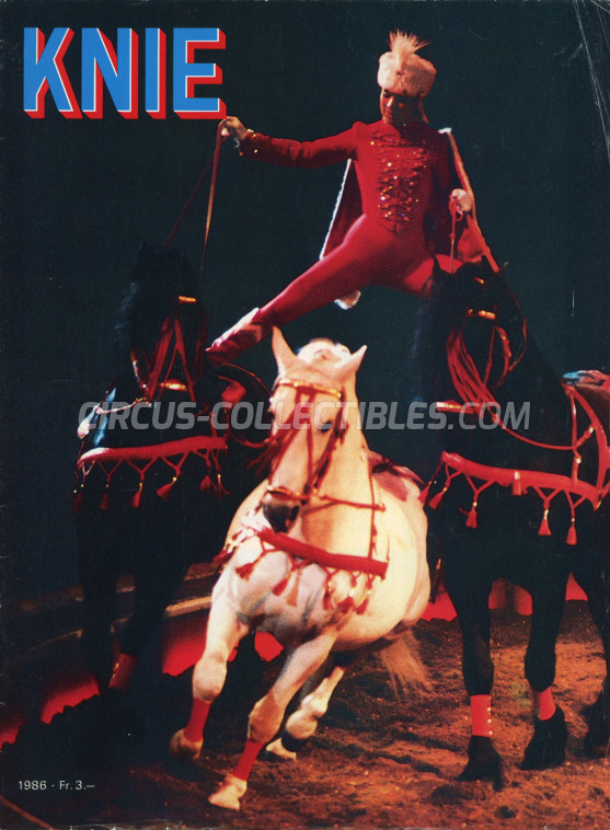 Knie Circus Program - Switzerland, 1986
