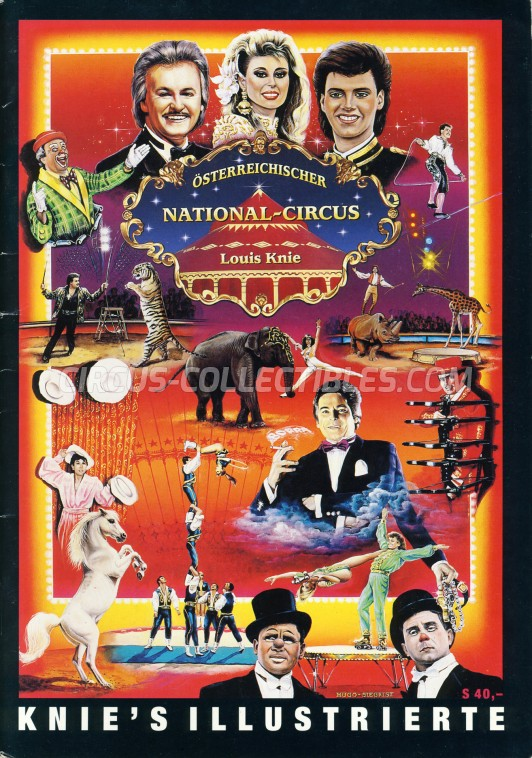Louis Knie Circus Program - Austria, 1994