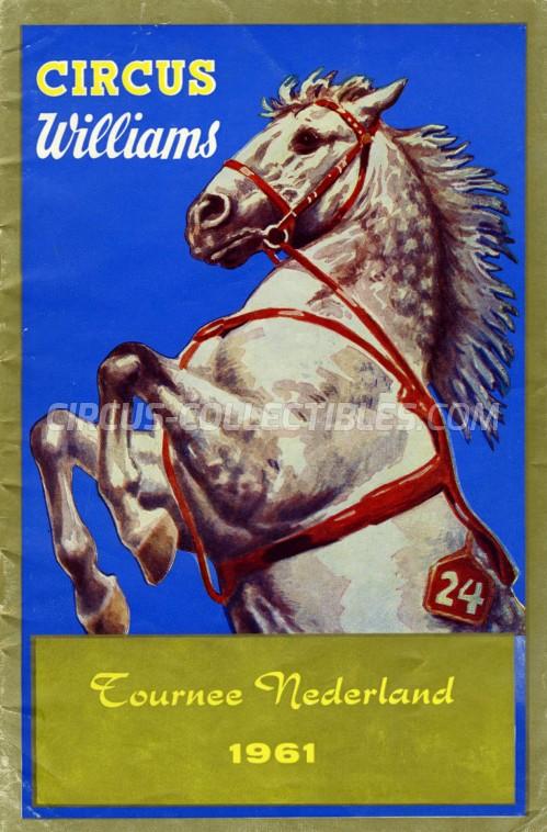 Williams Circus Program - Germany, 1961