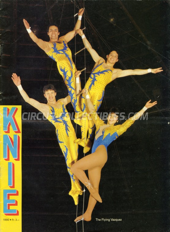 Knie Circus Program - Switzerland, 1990