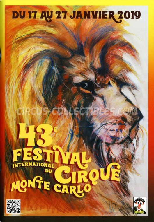 Festival International du Cirque de Monte-Carlo Circus Program - Monaco, 2019